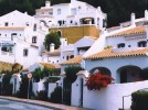 Capuchinos, San Juan de Capistrano,Nerja - View of Capuchinos apartment exactly above light brown wall (one level)