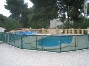 Villa soleada - pool with safety pool fence