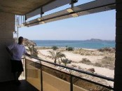 Rosa de los vientos - Sea view from balcony apartment to rent mazarron