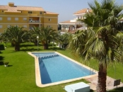 Los Frutales Alcossebre - View from apartment balcony of pool and garden area